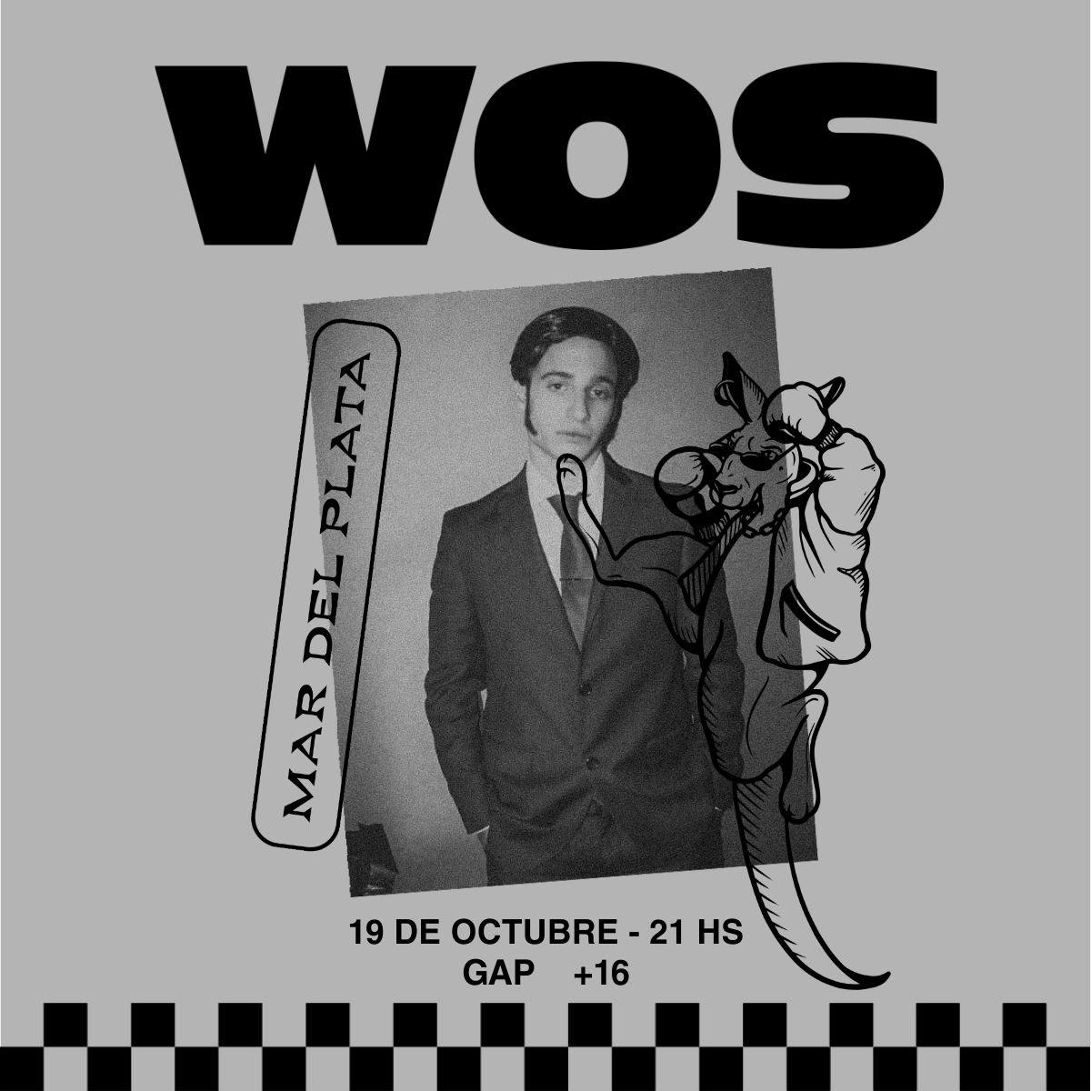 WOS llega a Mar del Plata el próximo 19 de octubre